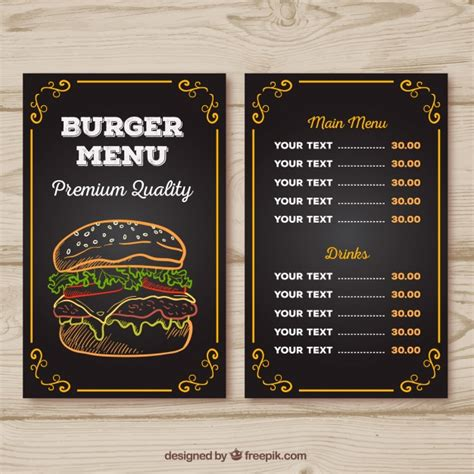 menu card design template vector free menu vectors photos and psd files free