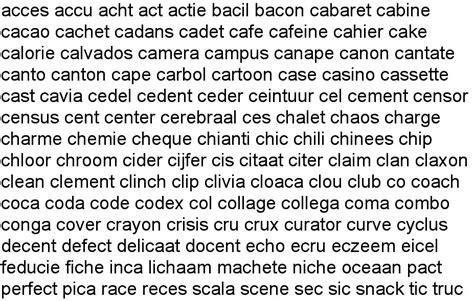 zin scrabble words woorden met een q en y en c
