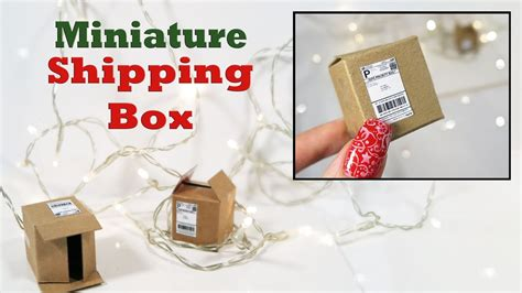 make a diy make a mini shipping box