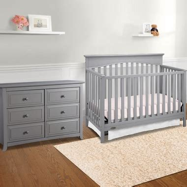 Graco Nursery Furniture Sets Graco Cribs Hayden 2 Nursery Set 4 In 1 Convertible Crib And Auburn 6 Drawer Dresser In