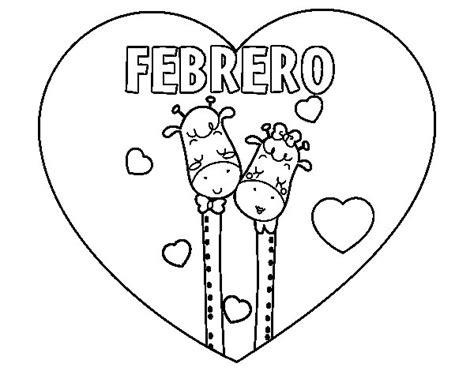 dibujos para colorear del mes de febrero imagui dibujos del mes de febrero para imprimir y pintar