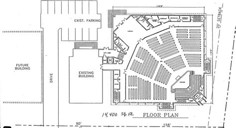 church floor plans free church plan 147 lth steel structures