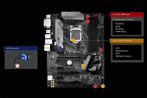 Asus Gaming Laptop Fan rog asus strix z270h gaming intel lga 1151 atx with 5 way optimization ddr4 3866mhz dual m 2
