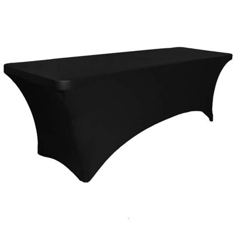 Black Table Covers by Spandex Rectangle 6ft Table Cover Black Contempo Linens