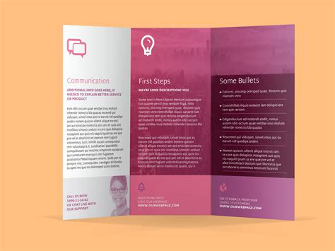 brochure template indesign indesign tri fold brochure template free 7 best agenda