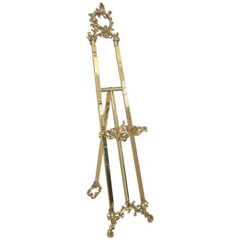 Floor Easel by Polished Brass Floor Easel For Sale At 1stdibs