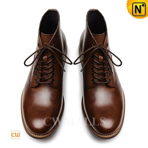 cwmalls 174 mens lace up leather ankle boots cw726509