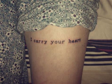 i carry your heart tattoo i carry your contrariwise literary tattoos