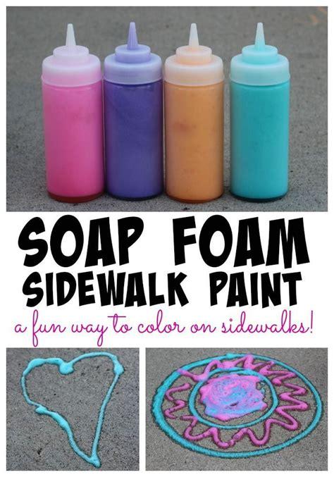 Soap Paints by Soap Foam Sidewalk Paint Sidewalk Paint Sidewalk And Easy