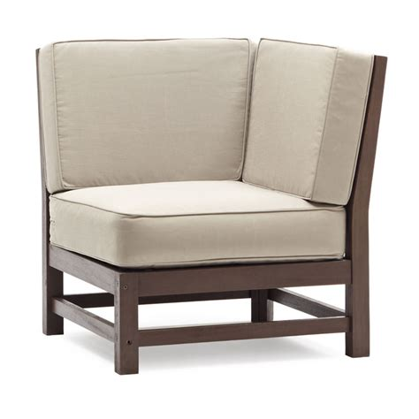 Sectional Corner Chair strathwood garden furniture sectional hardwood corner chair co uk garden