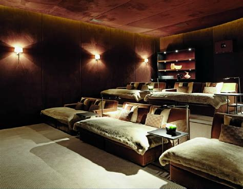 theatre with beds kelly hoppen home theatre room for the home pinterest