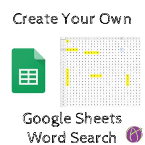 make your own word search template make your own word search in sheets