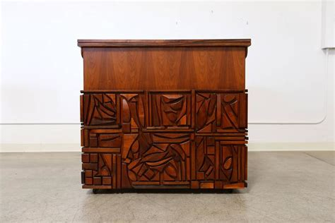 Hutchinson Cabinets by Studio Crafted Bar Cabinet By Artist Mabel Hutchinson At
