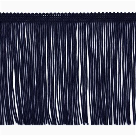 Where Can I Find For Free 4 Quot Chainette Fringe Trim Navy Blue Discount Designer Fabric Fabric
