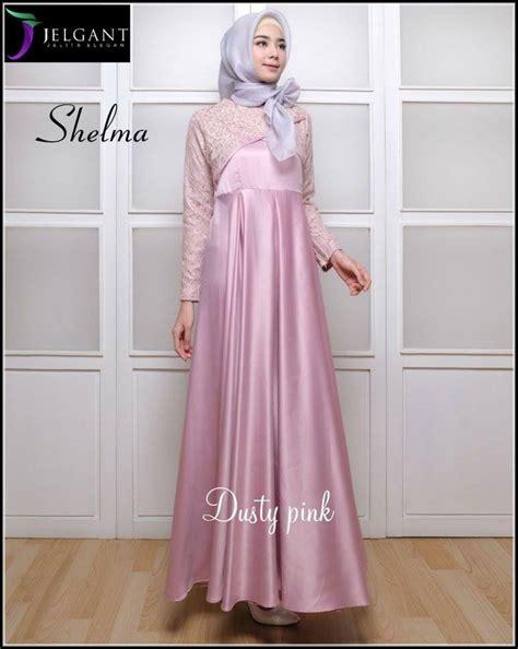 """Gamis Muslim Terbaru: Baju Muslim Terbaru """"SHELMA SATIN"""