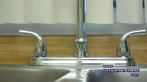 How To Replace Kitchen Faucet by How To Replace A Water Leaking Kitchen Faucet Using