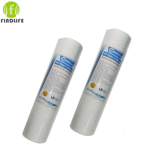 Cartridge 10 Inch Corosex Cartridge 10 Inch 2 pces 10 inch 1 micron ppf sediment water filter cartridge water purifier front filter