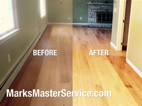 Refinished Hardwood Floors Before And After Hardwood Floor Refinishing Before And After Wood Floors