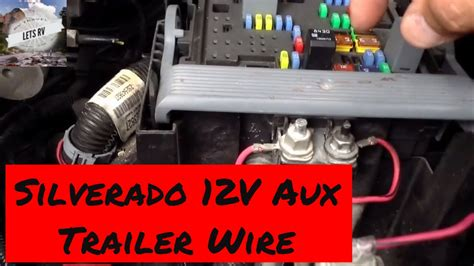 trailer power wiring    chevy silverado  volt auxiliary youtube