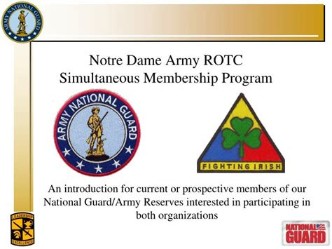 Notre Dame Mba Application Powerpoint by Rotc Powerpoint Template Army Image Collections