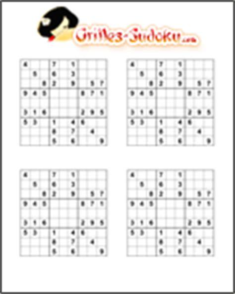 Grille De Sudoku Facile à Imprimer by Imprimer Des Grille De Sudoku Sur Grilles Sudoku