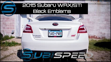 subaru emblem replacement subispeed 2015 wrx sti black replacement emblems