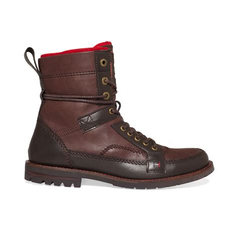 hilfiger mens boots hilfiger brutus boots in brown for lyst