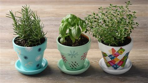 homemade flower pots perk up your planters with 3 diy flower pot ideas youtube