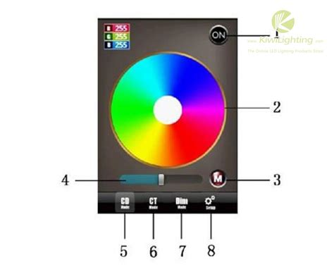 control lights with smartphone wf100 wifi rgb led controller control led lights with