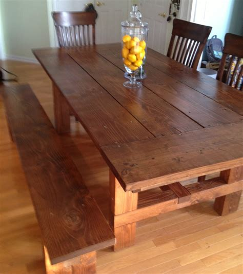 how to build a farmhouse table and bench dad built this how to build a farmhouse table