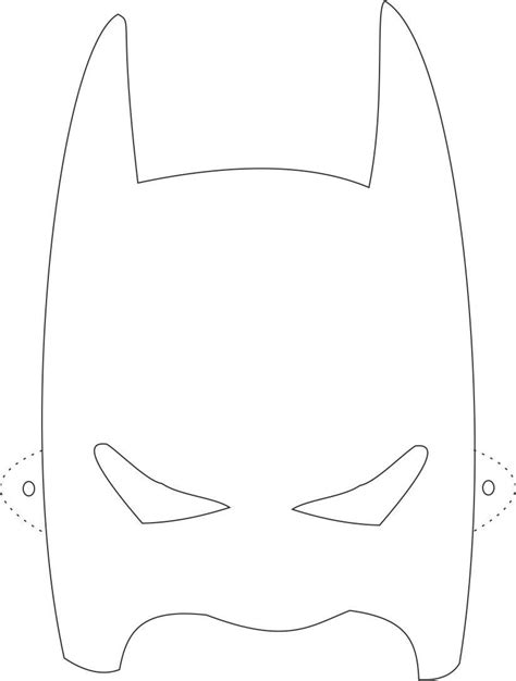 Batman Mask Template batman mask printable coloring page for
