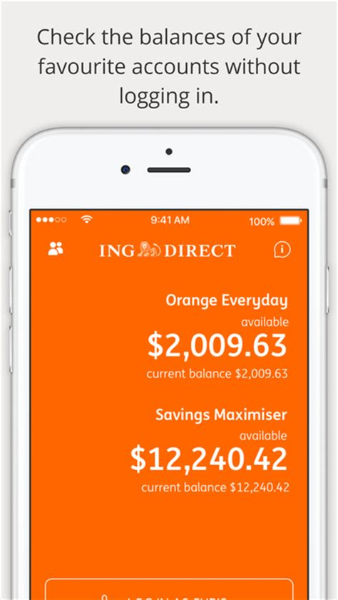 ing direct ing direct australia banking on the app store