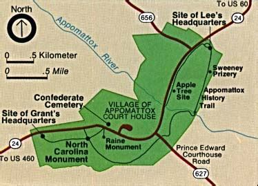 battle of appomattox court house maps of national historic military parks memorials and battlefields