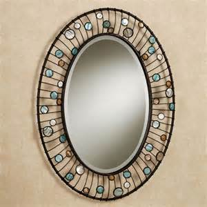 framed oval mirrors for bathrooms capizia oval wall mirror