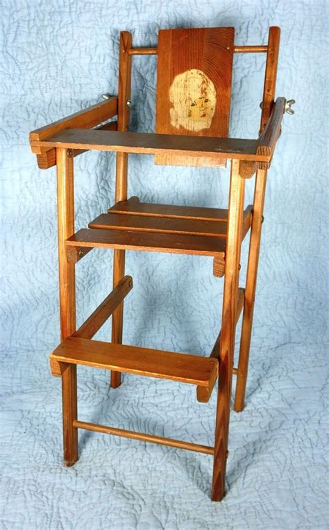 vintage folding wooden high chair 1000 images about 1950s vintage high chair on