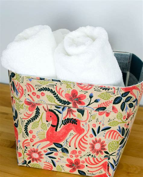 pattern fabric storage basket sew amazing fabric storage baskets that fold up