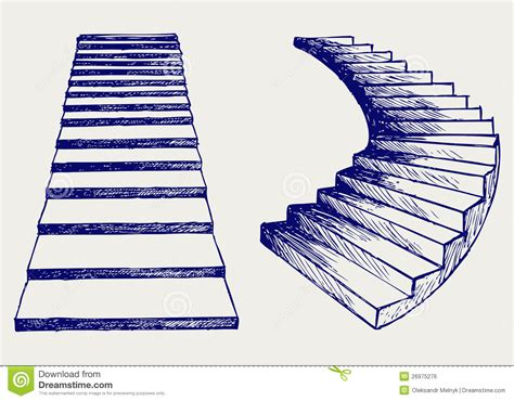 staircase sketch stock vector illustration of handwritten