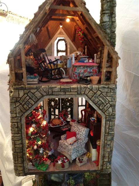 christmas doll house best 254 christmas dollhouses minis images on pinterest holidays and events