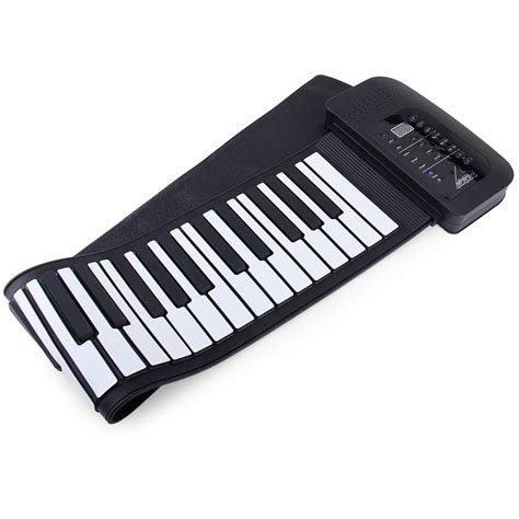 Usb Roll Up Piano black white pa61 usb midi roll up piano kit with 66 100 240v electronic roll up