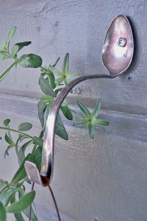 Outside Plant Hangers - spoon plant hangers upcycle that