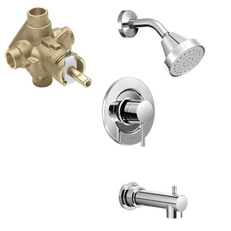 bathtub valves moen align single handle 1 spray positemp tub and shower