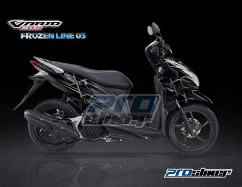 Sticker Decal Yamaha X Ride Energy Thor stiker motor vario 125 pgm fi hitam striping vario 125