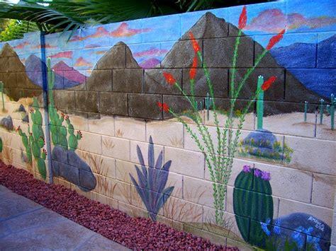 garden wall murals ideas mural on cinder block wall artistic joys cubit murals