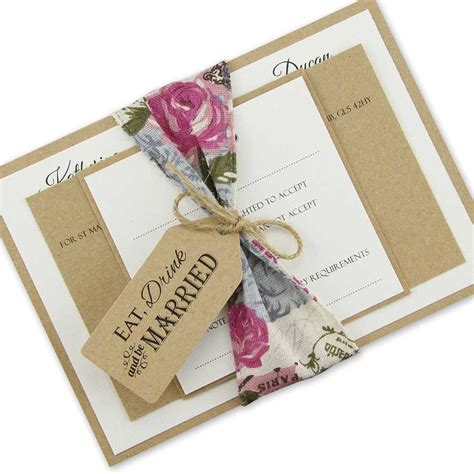 parcel invitation wedding invites