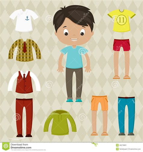 how to dress up a boy like a girl with pictures wikihow dress up game boy paper doll with clothes set stock