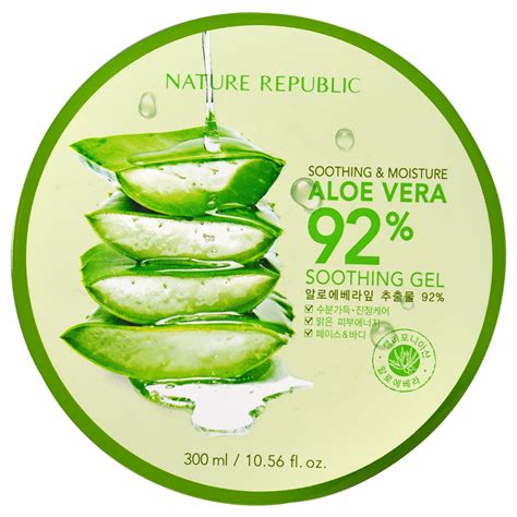 Nature Republic Soothing Moisture Aloe Vera Soothing Gel 300ml nature republic soothing moisture aloe vera 92