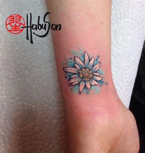 liebe tattoo designs ein edelweiss in watercolour reist nach amerika danke