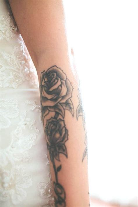 lower arm rose tattoos 254 best images about tattoos on sleeve