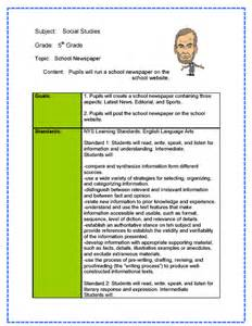 social studies lesson plan template social studies lesson plan sle