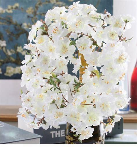 6pcs peach blossom simulation flowers artificial flowers popular artificial flower garlands buy cheap artificial
